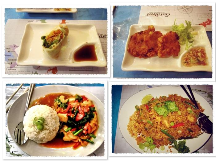 ... Starters – Goi Cuon (rice rolls), Tod Man Khao Pod (corn fritters